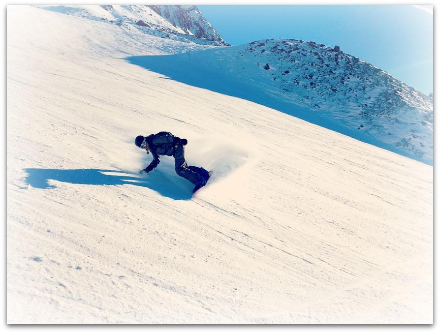 snowboard piste