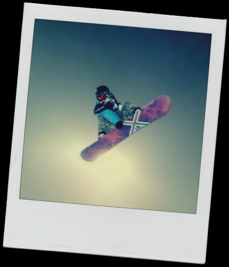 snowboard saut